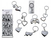 8 Assorted Heart Key Rings